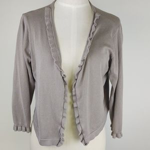 Allie & Rob Ruffle Open Front Crop Cardigan XL
